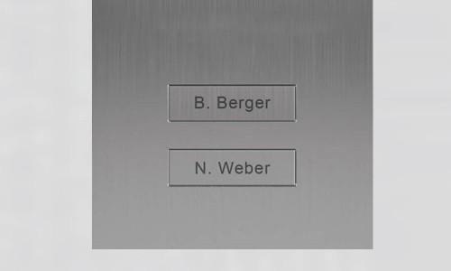 Portier vidéo IP wifi multi-utilisateurs - 2 sonnettes - Doorbird D2102V Inox