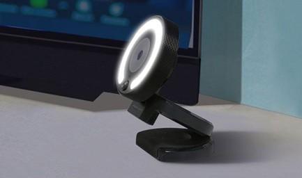 Webcam W28 avec anneau lumineux LED