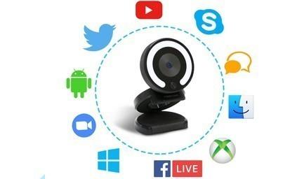 Caméra W28 Foscam compatible avec applications vidéo et systèmes d'exploitation