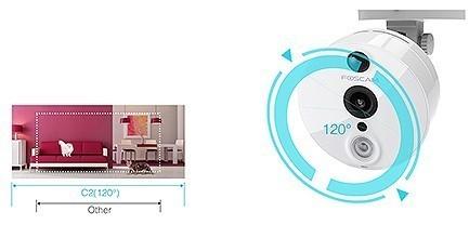Caméra compacte sans fil 1080 Foscam C2