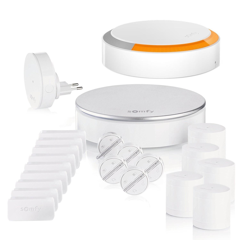somfy protect kit alarme connect e grande maison. Black Bedroom Furniture Sets. Home Design Ideas